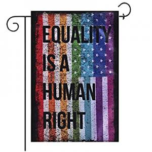 60.0% off Jayke Joy Rainbow Garden Flag Gay Pride Human Rights American Garden Flags for Lawn Pati..