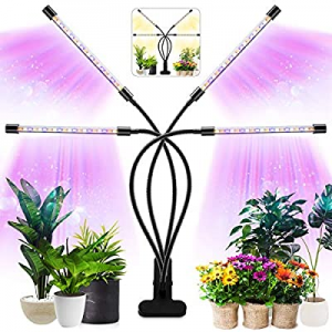 40.0% off Grow Light for Indoor Plants Four Head LED Growing Light 80 LED Lamps Full Spectrum Plan..