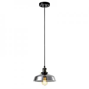 Vintage Cage Mini Pendant Light with Black,1-Light Adjustable Hanging Pendant Lighting Fixtures no..