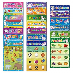 20Pack Educational Preschool Posters for Kids Toddlers Learning Kindergarten Classroom Decoration ..
