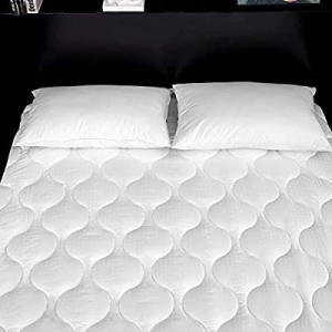 72.0% off Lipo Quilted Fitted Mattress Pad (Twin) - Mattress Cover Stretches up to 21 Inches Deep ..