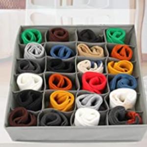 Amazon - Nowyeh 24格內衣襪子收納盒 ,7.4折
