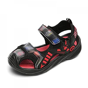 KUBUA Boys Girls Toddler Sandals Close Toe Outdoor Sport Summer Shoes for Kids now 73.0% off