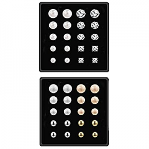 One Day Only!Stud Earrings for Women now 40.0% off , Piercing Crystal Pearl Earring Sets for Girls..