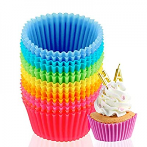 14-Pack Silicone Baking Cups now 50.0% off , Reusable Silicone Non-Stick Cake Baking Cups, Standar..
