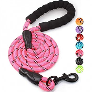 60.0% off 5 FT Strong Dog Leash with Comfortable Padded Handle and Highly Reflective Threads for S..