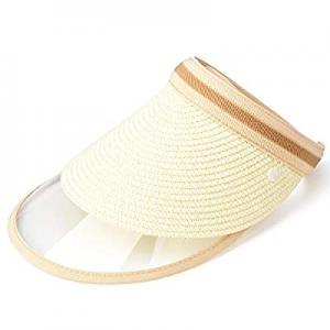 60.0% off Wide Brim Beach Hiking Detachable Floppy Sun Hat Women Beach Straw Hat UPF 50 Blocking H..