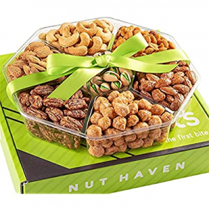 Fathers Day Nuts Gift Basket - Healthy Assortment of Sweet & Salty Dry Roasted Gourmet Nuts - Asso..