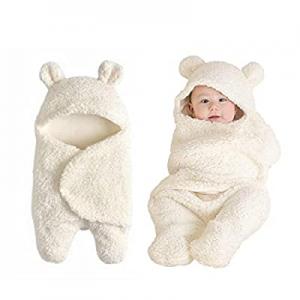 30.0% off Baby Swaddle Blanket Boys Girls Cute Cotton Plush Receiving Blanket Newborn Sleeping Wra..