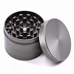 Herb Grinder 2 Inch 4 Pieces Zinc Alloy Spice Grinder- Silver Color… now 60.0% off