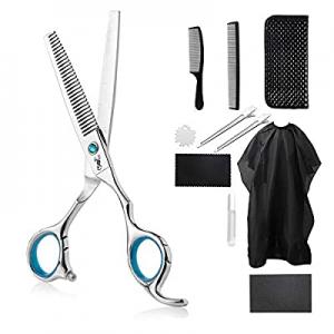 40.0% off 11PCS Stainless Steel Thinning Shears/Scissors Set 6.9 Inch Professional Salon Barber Ha..