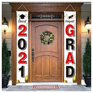 Graduation Decorations Door Banner 2021 - Class of 2021 Banner Decorations and Congrats Grad Banne..