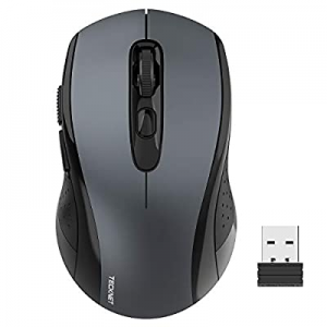 One Day Only!Wireless Mouse TeckNet 2.4G Optical Mouse with USB Nano Receiver for Notebook now 40...