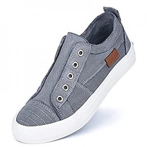 45.0% off JENN ARDOR Women's Canvas Slip On Sneakers Low Tops Fashion Flats Comfortable Casual Sho..
