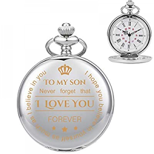 To My Son  Husband  Lover/King  Grandson now 50.0% off , ManChDa Mens Womens Quartz Personalized P..
