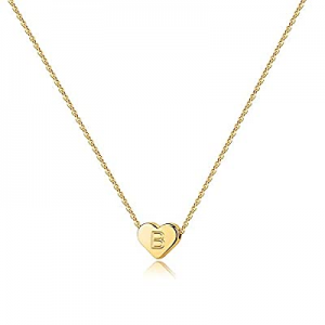One Day Only!80.0% off Heart Initial Necklaces for Women Girls - 14K Gold Filled Heart Pendant Let..
