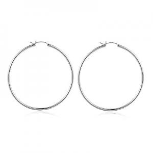 Gold Hoop Earrings for Women now 50.0% off , 14K Gold Plated 925 Sterling Silver Post Hypoallergen..