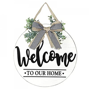20.0% off Winder Welcome Sign for Front Door Porch Farmhouse Rustic Wreath Wall Hanging Wooden Out..