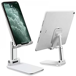 Cell Phone Stand Adjustable Angle Height Phone Stand for Desk Stable and Non Slip Mobile Phone Hol..