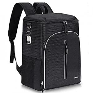 30.0% off Insulated Cooler Backpack 45 Cans Leak-Proof Soft Cooler Bag Large Backpack Cooler for L..