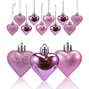 60.0% off Adeeing 36Pcs Valentine Decorations Heart Shaped Ornaments Hanging Baubles for Valentine..