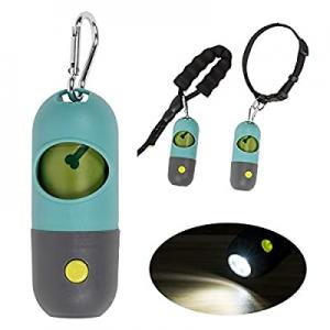 KINTEN Dog Poop Bag Dispenser now 55.0% off , Poop Bag Holder with LED Flashlight for Leash, Pet W..