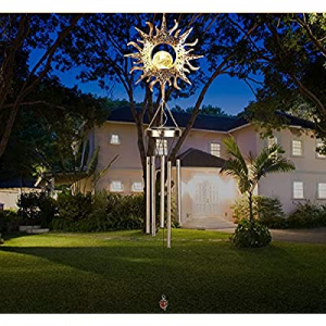ACETOP Sun Crackle Glass Ball Solar Wind Chimes Sympathy now 70.0% off , Memorial Windchime Cleara..