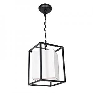 Vinsniv Industrial Mini Farmhouse Pendant Light now 65.0% off , Modern Metal and Fabric Adjustable..