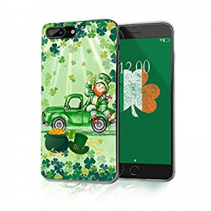 Cocomong St Patrick's Day Phone Case Compatible with iPhone 8 Plus Shamrock Case iPhone 7 Plus Cov..