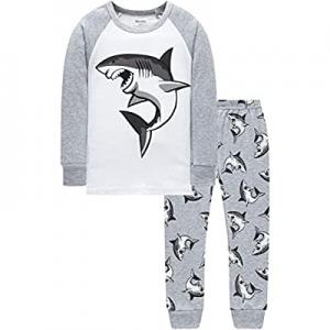 Boys Truck Pajamas Christmas Kids Cotton Pjs Children Excavator Cute Sleepwear now 50.0% off
