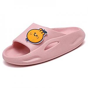 One Day Only!70.0% off UBFEN Kids Shower Slides Boys Girls Sandals Beach Pool Non-Slip Slippers Su..