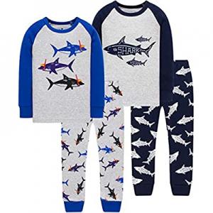 50.0% off Pajamas for Boys Girls Grow in The Dark Dinosaurs Sleepwear Christmas Baby Clothes 4 Pie..