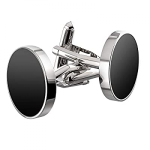 75.0% off UHIBROS Jewelry Stainless Steel Classic Tuxedo Shirt Cufflinks for Men Unique Business W..