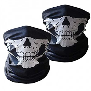 One Day Only!Neck Gaiter (2 Pack), Face Cover Scarf, Bandana Headwear,Cool Breathable now 60.0% off
