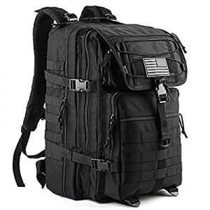 20.0% off 45L Molle Army Military Tactical Bag - Waterproof Assault Pack Rucksack Travel Hiking Sh..