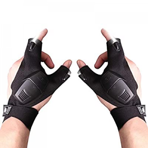 Flashlight Gloves now 60.0% off , Hands Free LED Flashlight Gloves for Darkness Places Fishing Rep..