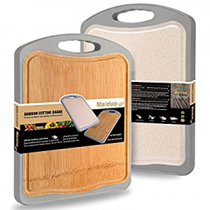 Bamboo Cutting Board for Kitchen with Juice Groove - Organic Whole Bamboo Composite Chopping Board..