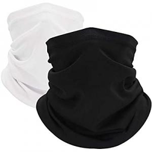 Neck Gaiter (2 Pack), Face Cover Scarf, Bandana Headwear,Cool Breathable now 60.0% off
