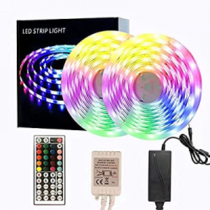 65.6ft LED Strip Lights now 50.0% off , Color Changing Rope Lights with IR Remote for Bar Bedroom ..