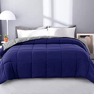 55.0% off EDUJIN Lightweight Reversible Down Alternative Quilted Comforter - Soft Bed Comforter wi..