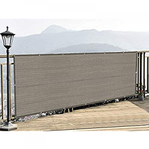 LOVE STORY 3' x 10' Balcony Screen Privacy Fence Cover UV Protection Weather-Resistant 3 FT Height..