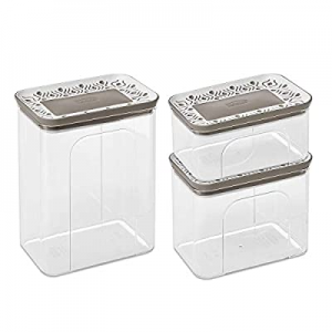 50.0% off Clear Acrylic Canister Set of 3 - Dry Goods Storage Containers Airtight - Kitchen Contai..