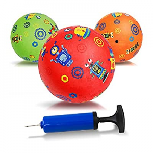 One Day Only!INPODAK Mini Playground Balls now 65.0% off , 5 Inches Kick Rubber Ball, Dodge Ball, ..