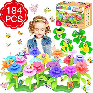 Flower Garden Building Toys now 50.0% off , Girls Toys Age 3-6 Year Old Toddlers Toys for Christma..