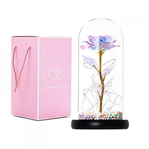 Eternal Beauty and The Beast Rose now 70.0% off , Forever Lasts Rose in Glass Dome, Preserved Flow..
