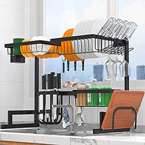 """Dish Drying Rack Over Sink Adjustable (25.6""""-33.5"""") now 40.0% off , 2-Tier Stainless Steel Above S.."""