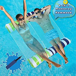 Swimming Pool Float Hammock now 50.0% off , Water Hammock Portable Inflatable Pool Floats Multi-Pu..