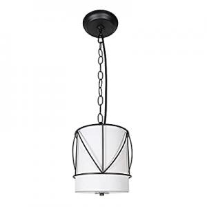 Vinsniv Ceiling Hanging Pendant 1-Light now 80.0% off , Mini Adjustable Oil Black Metal Cage Light..