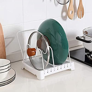 One Day Only!50.0% off LINFIDITE Pot Lid Holder Organizer Cutting Boards Holder Kitchen Pot Lid Ra..