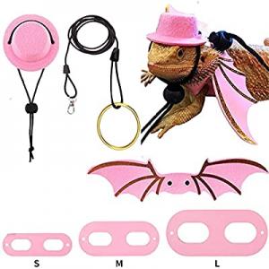 70.0% off Bearded Dragon Lizard Leash Harness Hat Bowtie Set -Bearded Dragon Top Hat Red Bow Tie C..